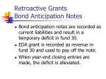 retroactive grants bond anticipation notes