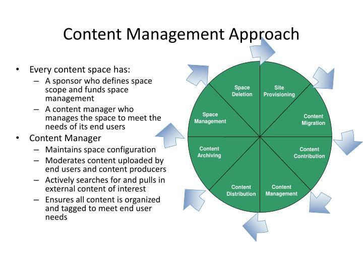Content Management Approach