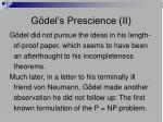 g del s prescience ii