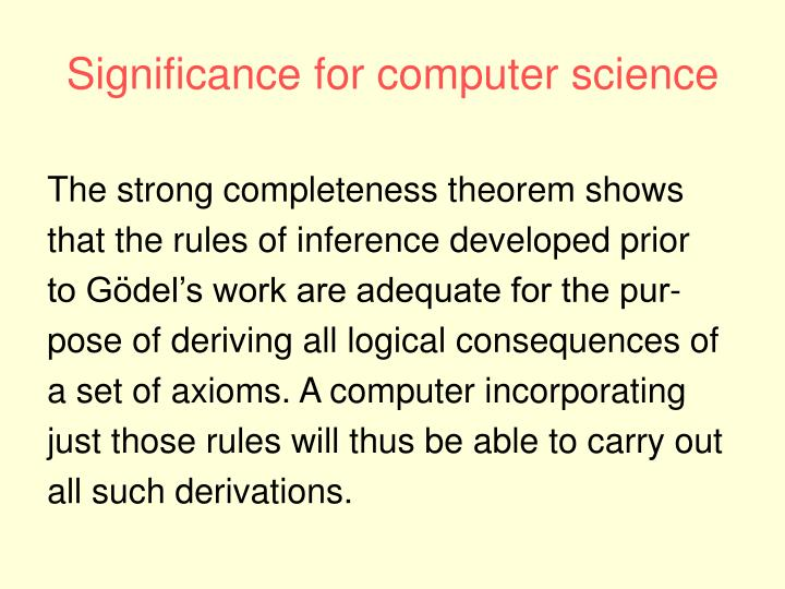 Significance for computer science