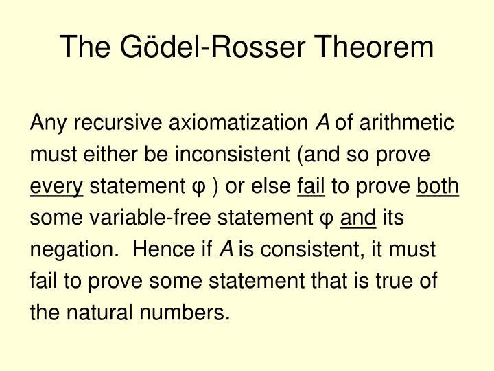 The Gödel-Rosser Theorem