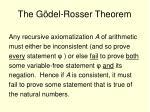 the g del rosser theorem