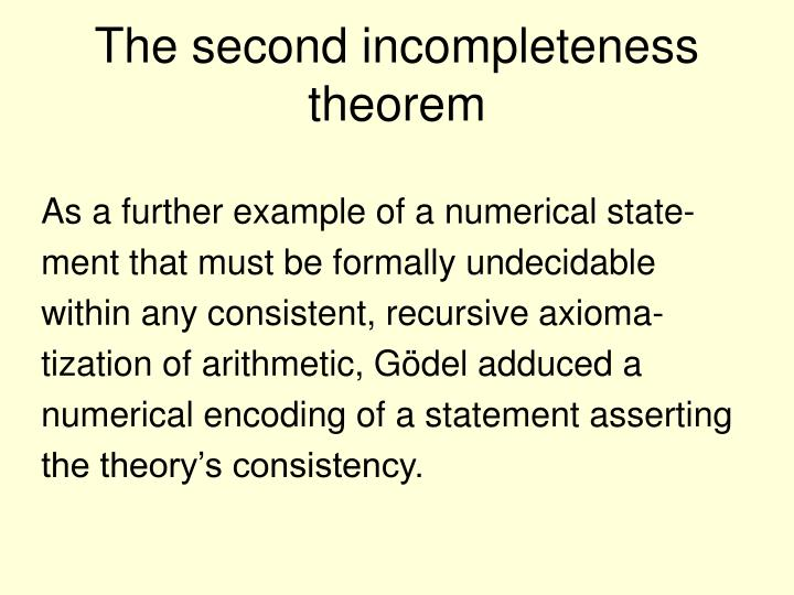 The second incompleteness theorem