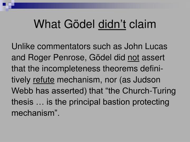What Gödel