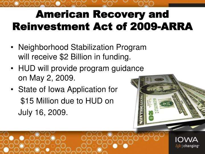 American Recovery and Reinvestment Act of 2009-ARRA