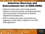 american recovery and reinvestment act of 2009 arra1