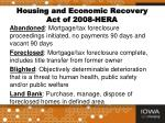 housing and economic recovery act of 2008 hera1