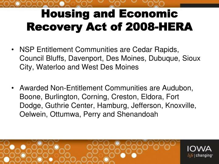 Housing and Economic Recovery Act of 2008-HERA