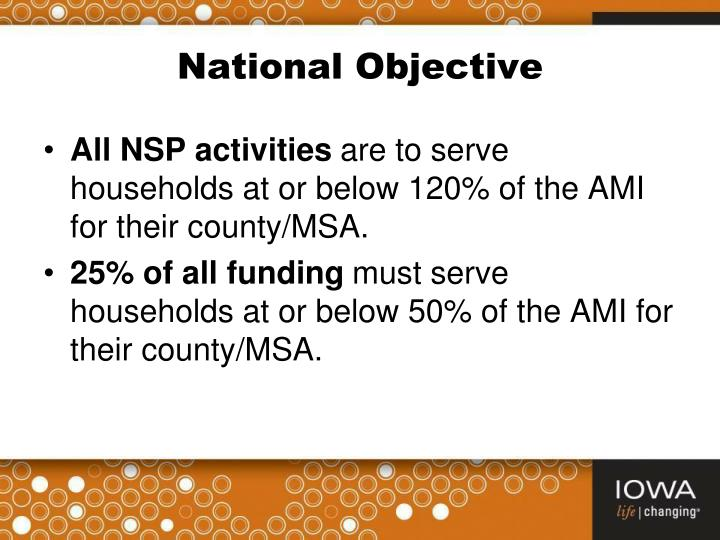 National Objective