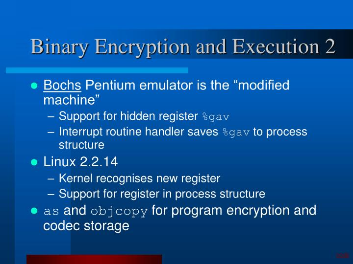 Binary Encryption and Execution 2