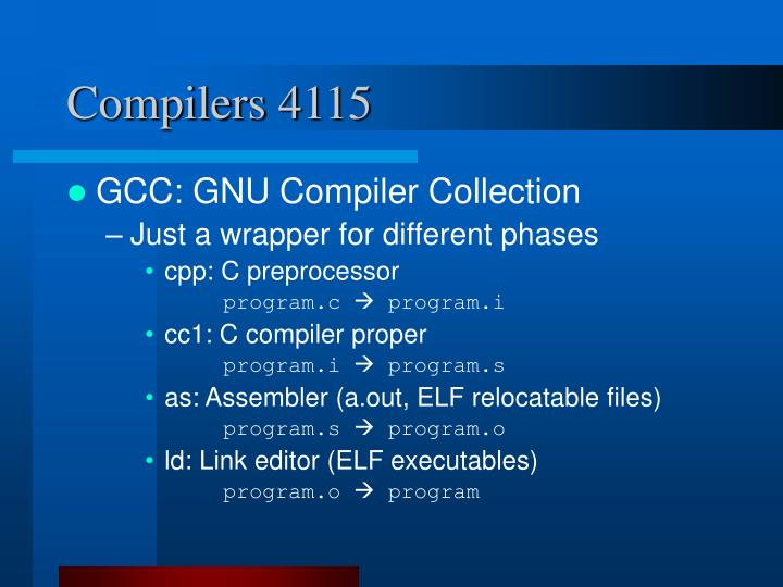 Compilers 4115
