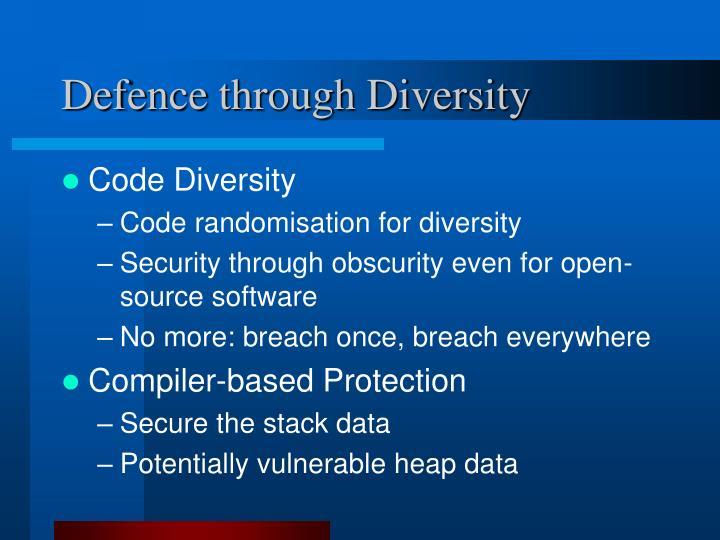 Defence through Diversity