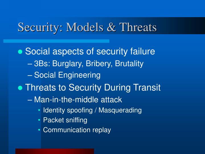 Security: Models & Threats