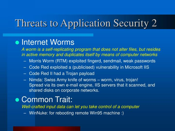 Threats to Application Security 2