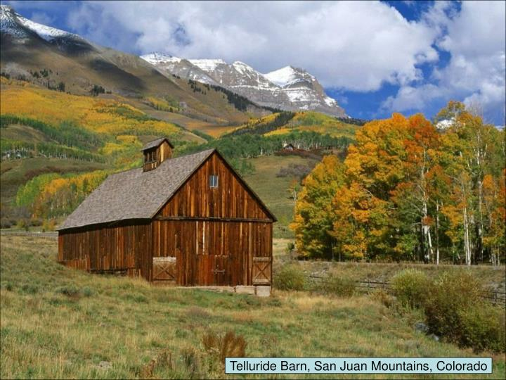 Telluride Barn, San Juan Mountains, Colorado