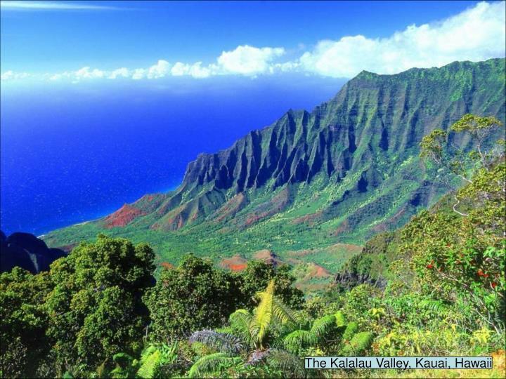 The Kalalau Valley, Kauai, Hawaii