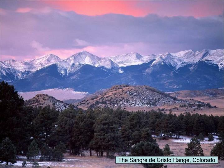 The Sangre de Cristo Range, Colorado