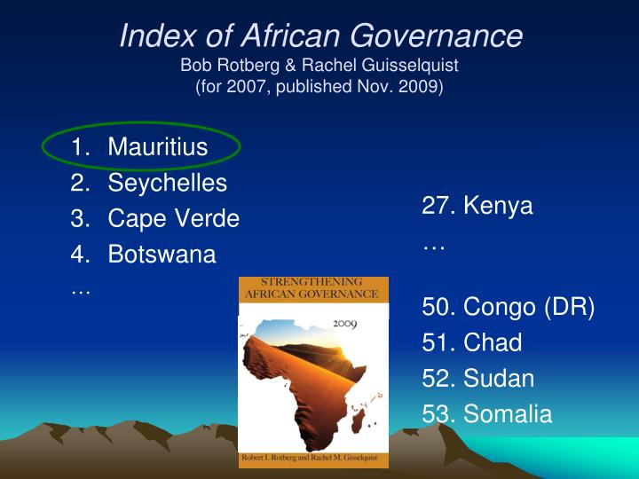 Index of African Governance