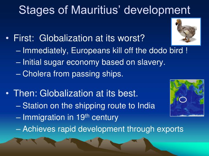 Stages of Mauritius' development