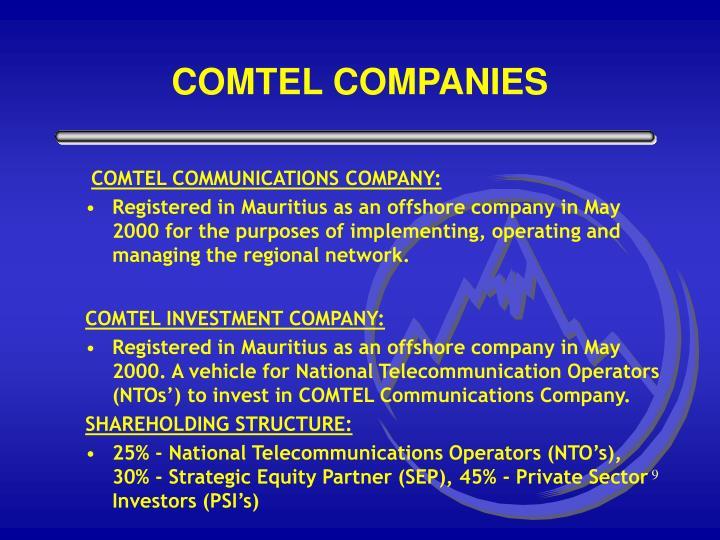 COMTEL COMMUNICATIONS COMPANY: