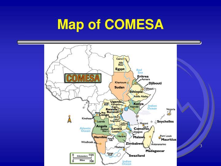 Map of COMESA