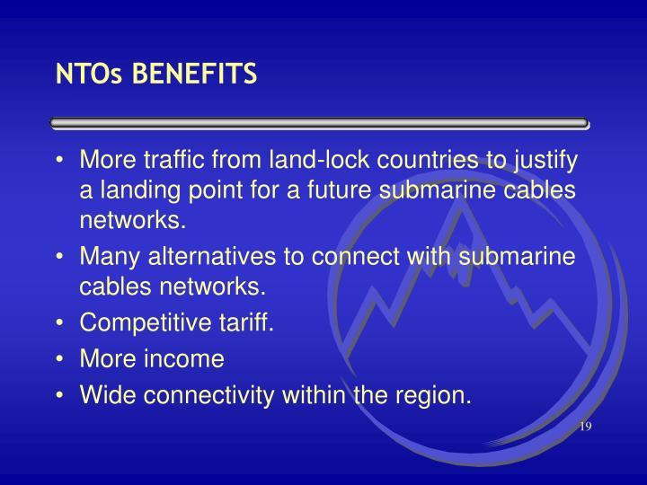 NTOs BENEFITS