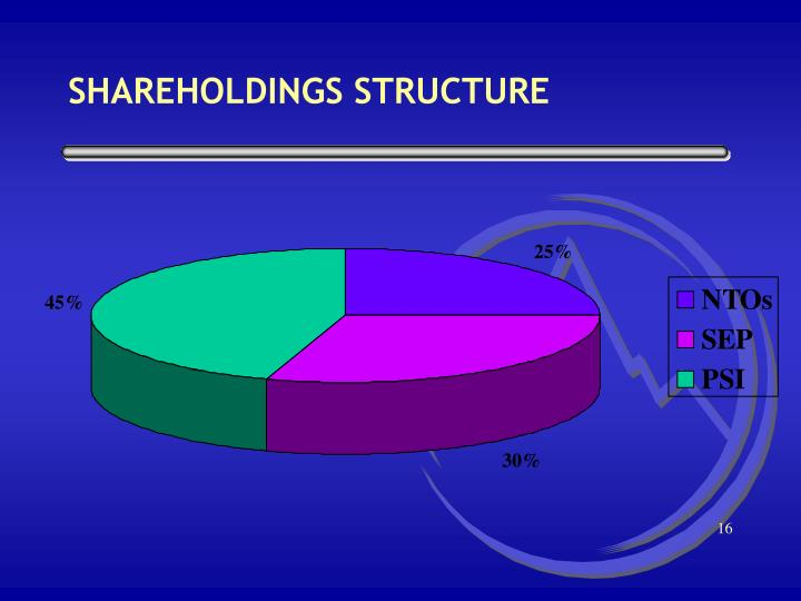 SHAREHOLDINGS STRUCTURE