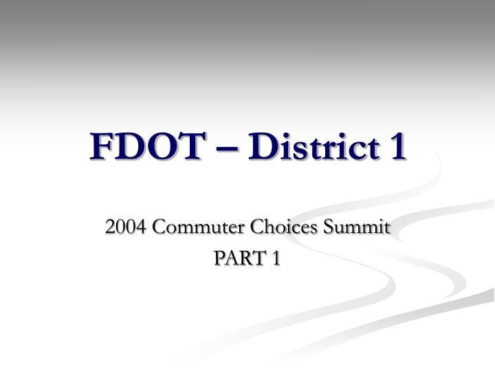 FDOT – District 1