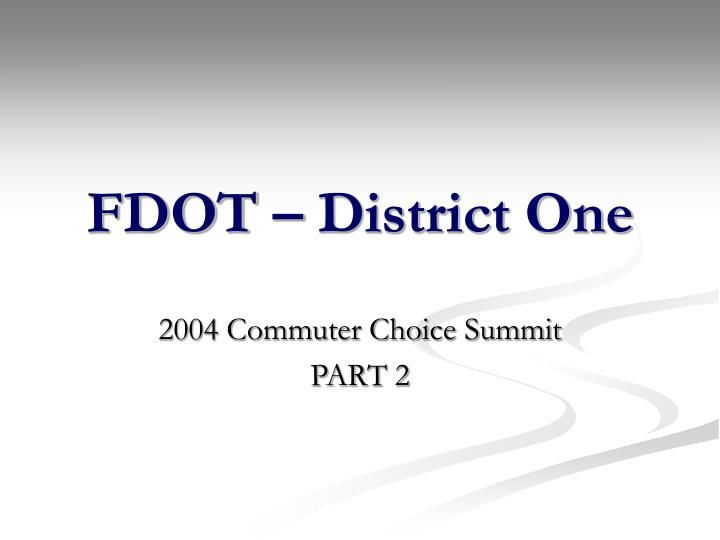 FDOT – District One