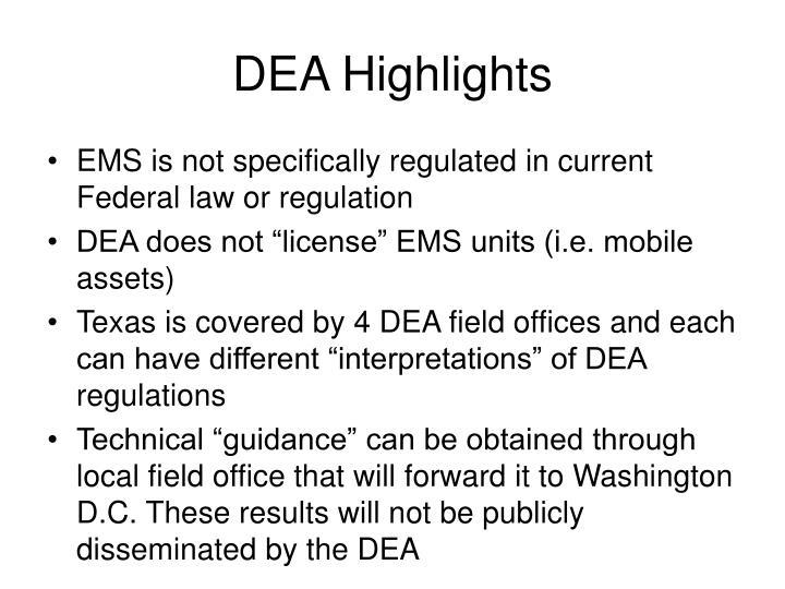 DEA Highlights