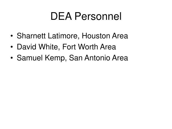 DEA Personnel