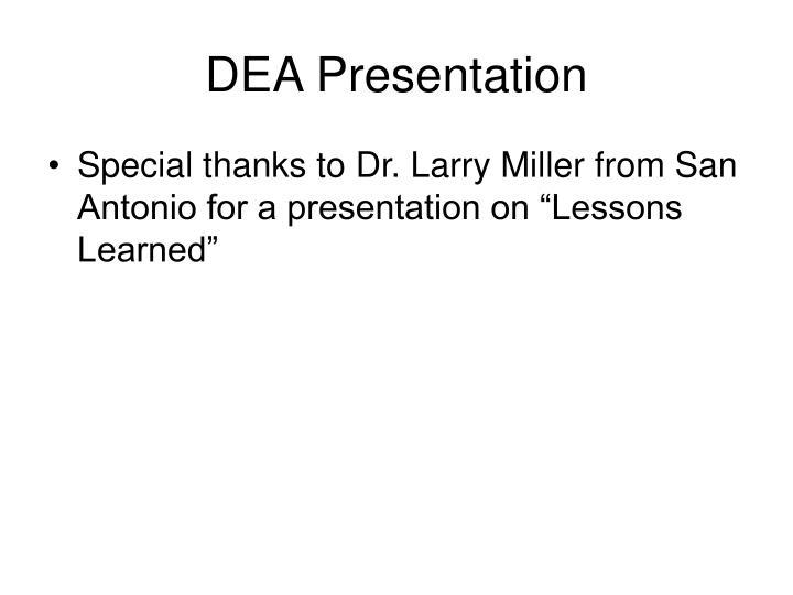 DEA Presentation