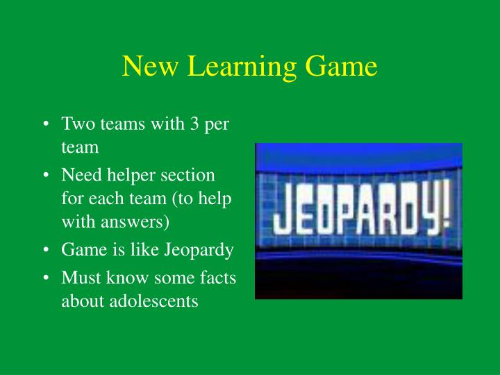 New Learning Game