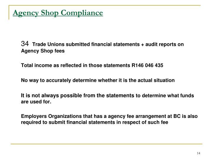 Agency Shop Compliance