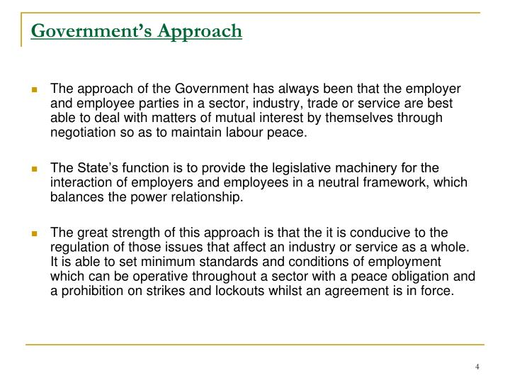 Government's Approach
