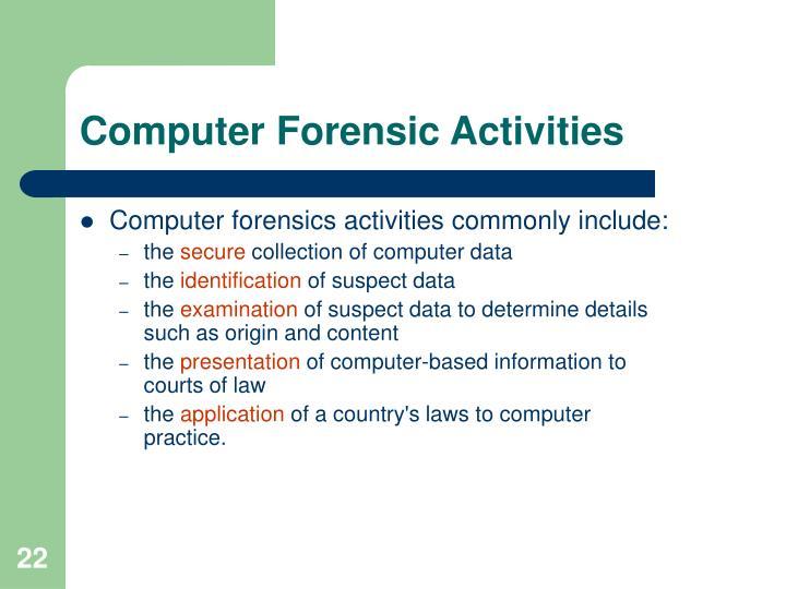 Computer Forensic Activities