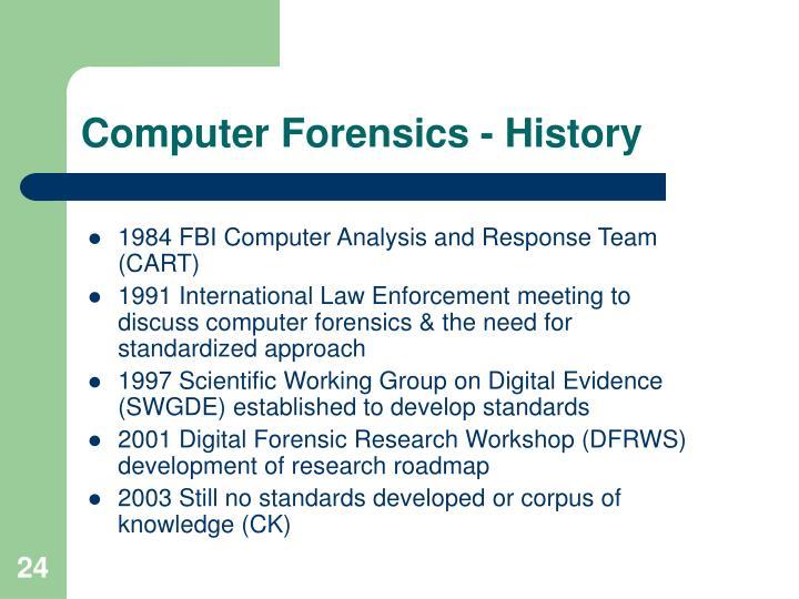 Computer Forensics - History