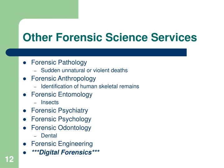 Other Forensic Science Services