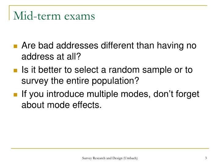 Mid-term exams
