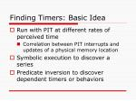 finding timers basic idea