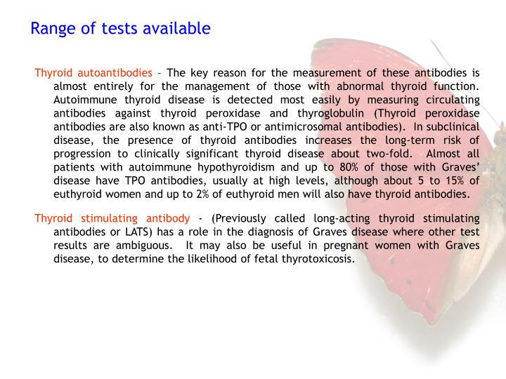Thyroid autoantibodies