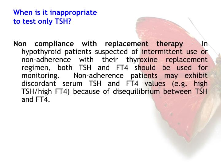 Non compliance with replacement therapy