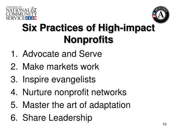 Six Practices of High-impact Nonprofits
