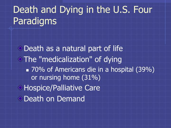 Death and Dying in the U.S. Four Paradigms