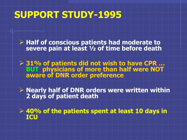 SUPPORT STUDY-1995