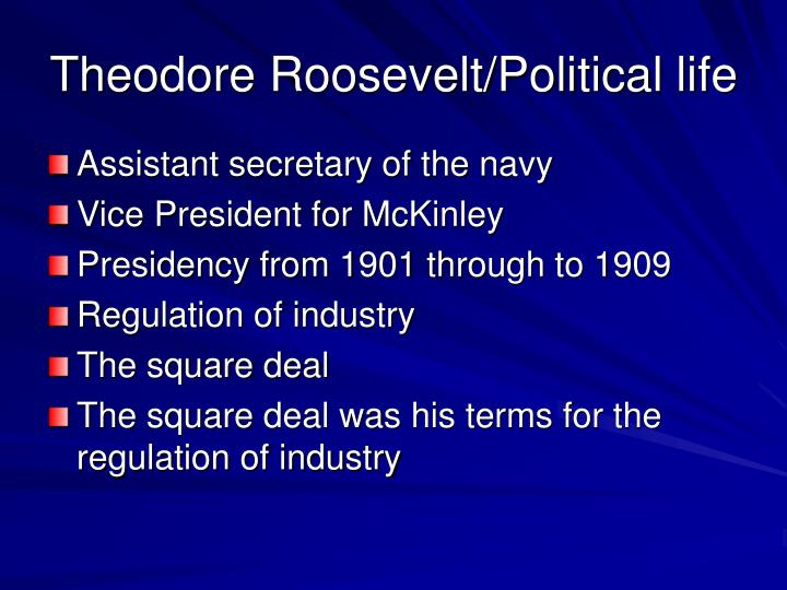 Theodore Roosevelt/Political life