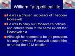 william taft political life