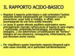 il rapporto acido basico
