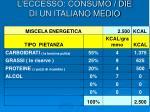 l eccesso consumo die di un italiano medio4