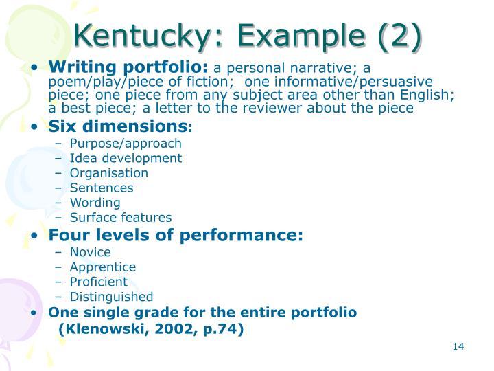 Kentucky: Example (2)